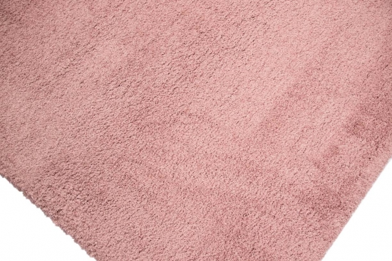 Shaggy Teppich Micro Polyester Hochflor Langflor Wohnzimmer Gemustert In Uni Design Rose Pink Rosa