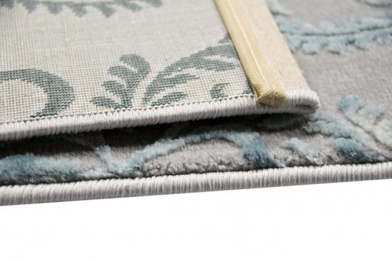 Designer Rug Contemporary Rug Wool Rug Heather Living Room Carpet Carpet  Ornament Turquoise Grey Cream