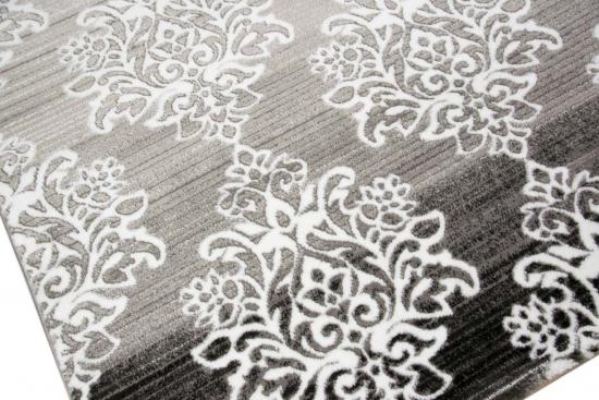 Moderner Teppich Designer Orientteppich Wohnzimmer Mit Ornamente Meliert In Grau Creme Anthrazit