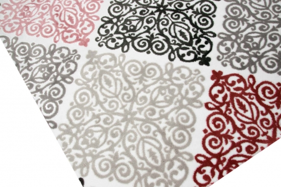 Moderner Teppich Designer Orientteppich Mit Glitzergarn Wohnzimmer Ornamente Meliert In Creme Beige Grau Anthrazit Rose
