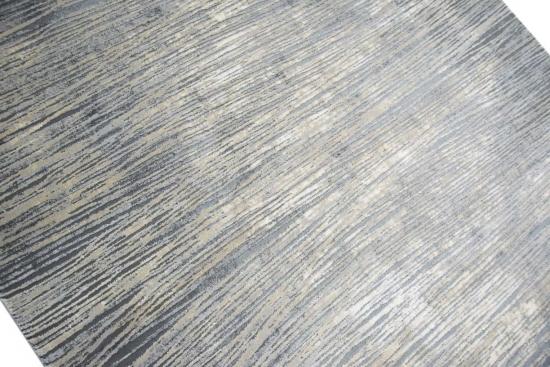 Designer Teppich Moderner Wohnzimmer Meliert In Grau Beige