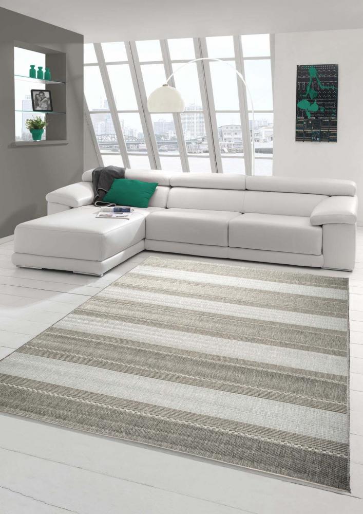 Dettagli su Tessuto piatto tappeto moderno a righe Sisaloptik corridori  cucina Moquette Cuci