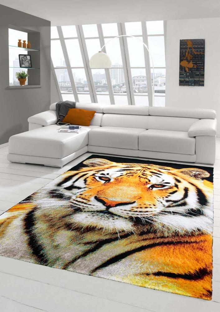 Design carpet contemporary rug living room carpet tiger - Orange and cream living room ideas ...