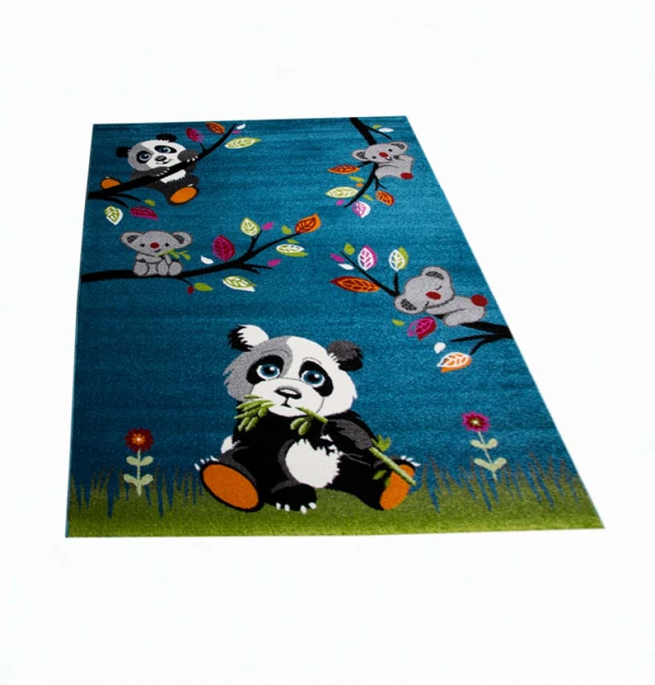 kinderteppich spielteppich kinderzimmer teppich niedliche bunte tiere panda desi ebay. Black Bedroom Furniture Sets. Home Design Ideas