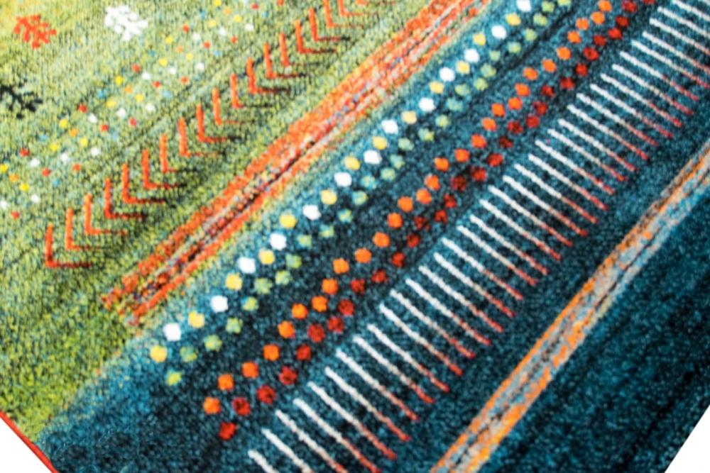 Designer Teppich Moderner Teppich Wohnzimmer Teppich Barock Design Multi  Farbverlauf Modern In Grün Rot Gelb Türkis