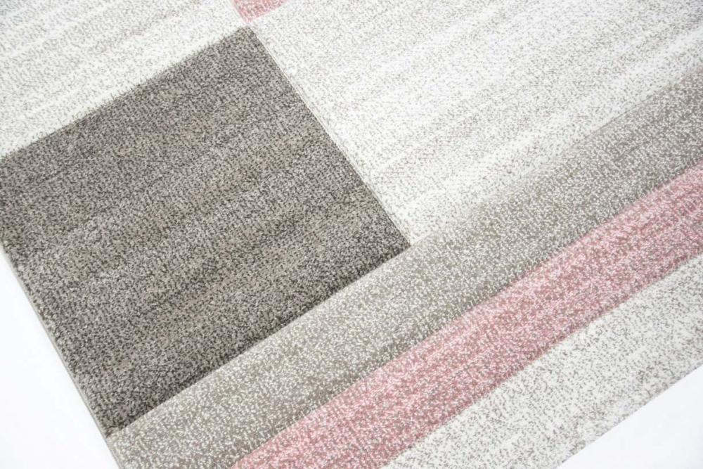 designer und moderner teppich wohnzimmer teppich karo muster pastellfarben rosa ebay. Black Bedroom Furniture Sets. Home Design Ideas