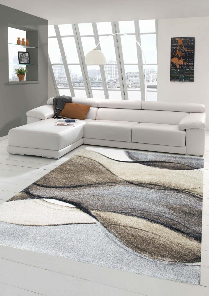 teppich-traum - fußbodenheizungsgeeignet barock design 3,2 kg/m² ... - Teppich Wohnzimmer Braun