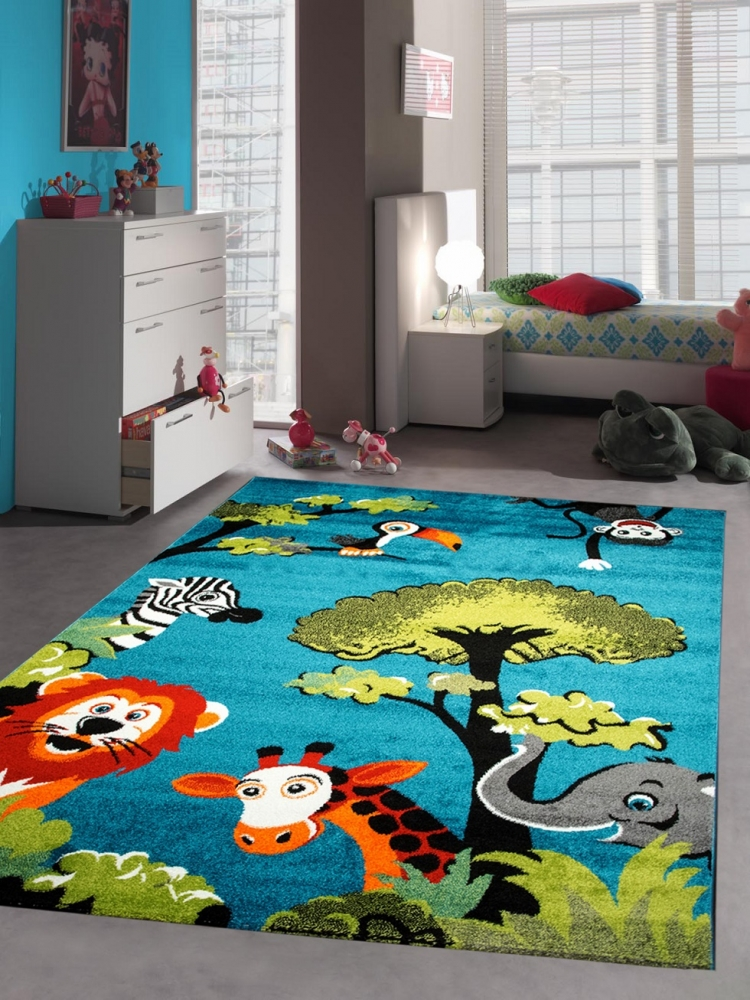 kinderteppich spielteppich kinderzimmer teppich zootiere niedliche bunte tiere m ebay. Black Bedroom Furniture Sets. Home Design Ideas