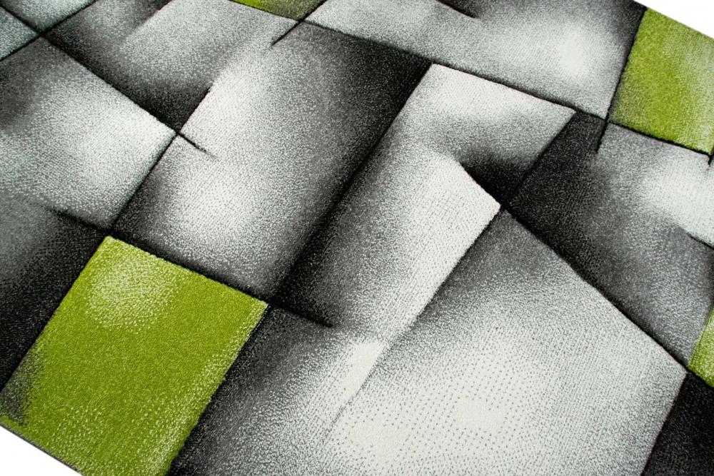 Fesselnd Designer Teppich Moderner Teppich Wohnzimmer Teppich Kurzflor Teppich Mit  Konturenschnitt Karo Muster Grün Grau Weiß Schwarz