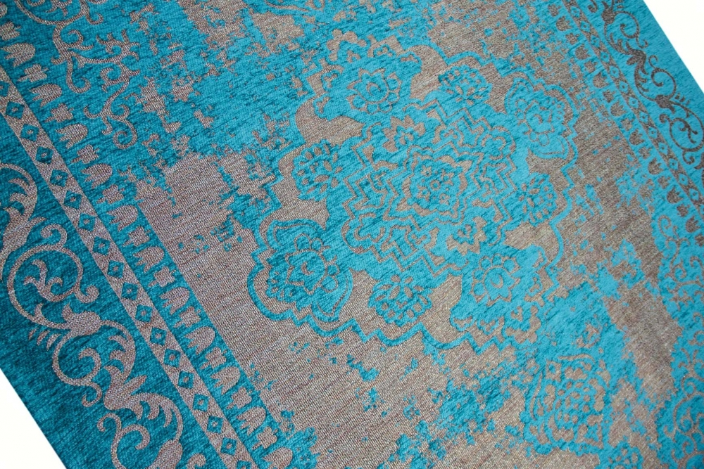 moderner teppich designer teppich orientteppich wohnzimmer teppich mit bordre in trkis beige - Wohnzimmer Teppich Turkis