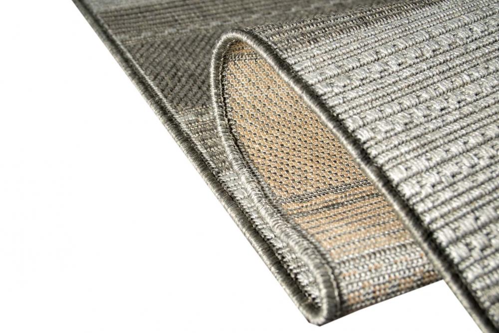 teppich modern flachgewebe gestreift sisal optik k chenteppich k chenl ufer grau ebay. Black Bedroom Furniture Sets. Home Design Ideas