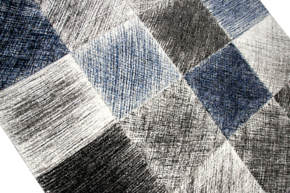 designer und moderner teppich wohnzimmerteppich in blau grau schwarz ebay. Black Bedroom Furniture Sets. Home Design Ideas