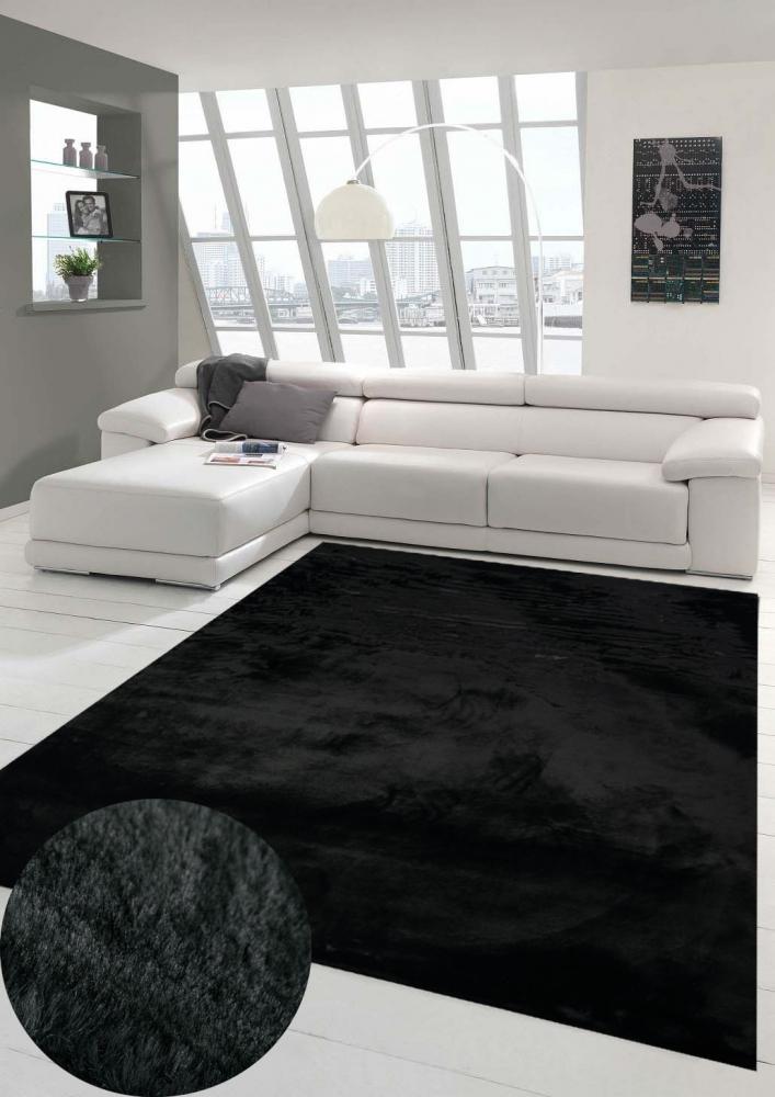 Teppich Kunstfellteppich Hochflor Faux Fur Hasenfell uni beige