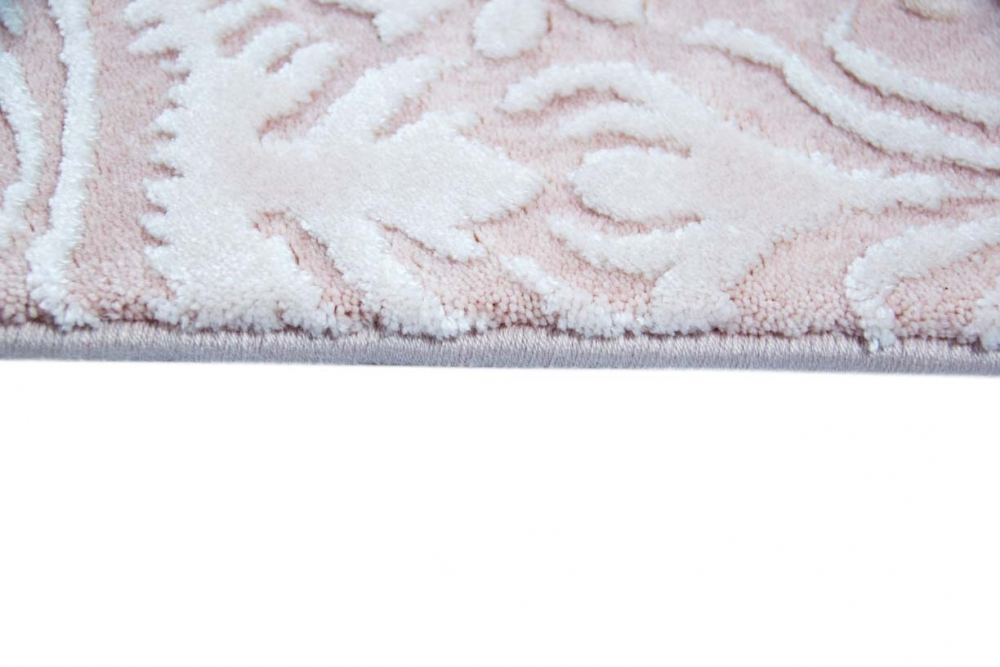 Designer Teppich Moderner Teppich Wollteppich Meliert Wohnzimmerteppich  Wollteppich Ornament Rosa Pink