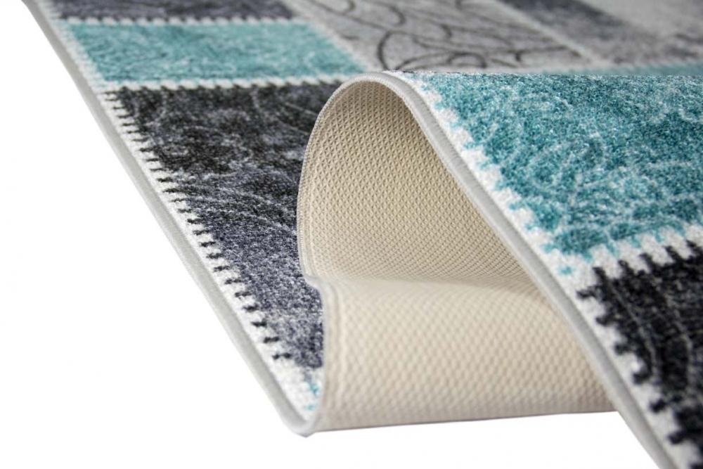 Teppich Läufer Modern teppich traum gel läufer karo muster rundherum gekettelt 1250 gr