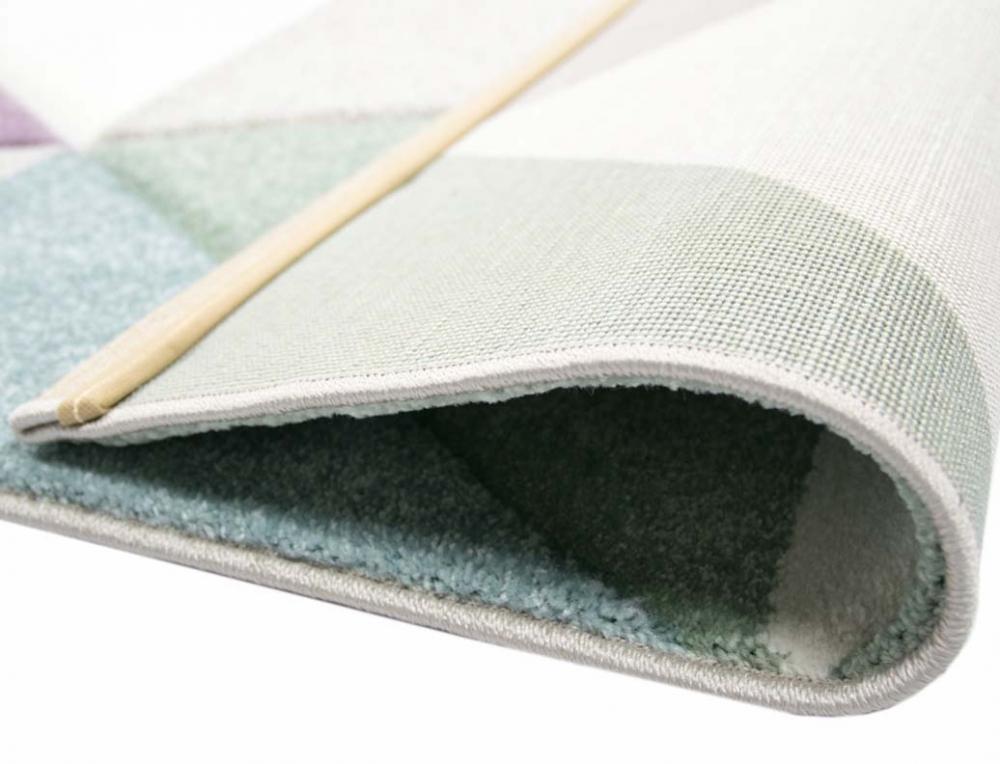 Teppich-Traum - Dreieck Muster Fußbodenheizungsgeeignet 3 kg/m² ...